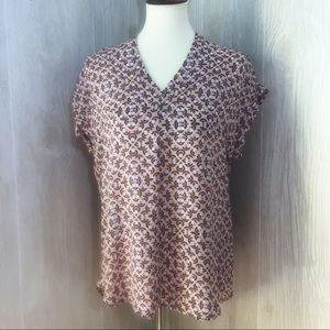 NWT Pleione Blush Pink Short Sleeved Blouse XS